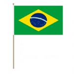 Brazil Country Hand Flag - Large.